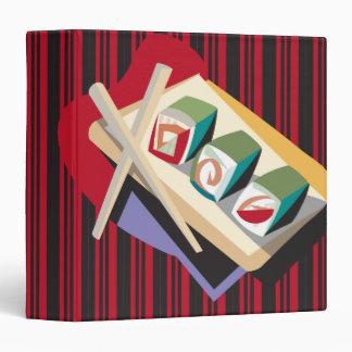 """cuaderno enrrollado del sushi carpeta 1 1/2"""""""