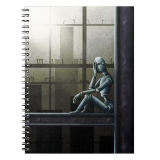 cuaderno enterado del scifi del robot del uno mism