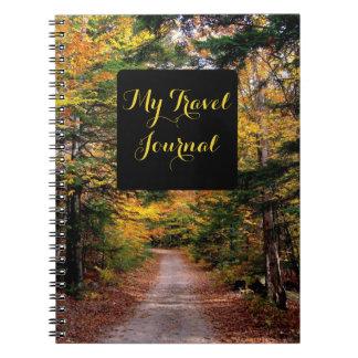 Cuaderno escénico temático del diario del viaje de
