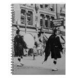 Cuaderno escocés de la banda del vintage