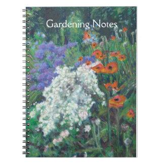 Cuaderno espiral adaptable para un jardinero