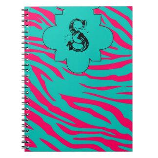 Cuaderno espiral animal del estampado de zebra del