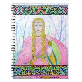 """Cuaderno espiral céltico de """"Deirdre"""" de la"""