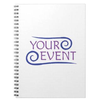 Cuaderno espiral con el regalo del cliente del