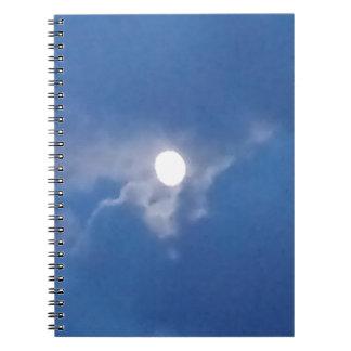Cuaderno espiral con la foto de la Luna Llena