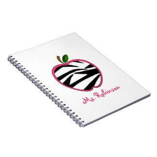 Cuaderno espiral de Apple de la cebra para los pro