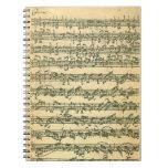 Cuaderno espiral de Bach Chaconne