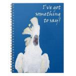 Cuaderno espiral de griterío del Cockatoo