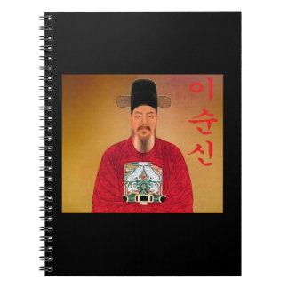 Cuaderno espiral de Hangul de la espinilla de