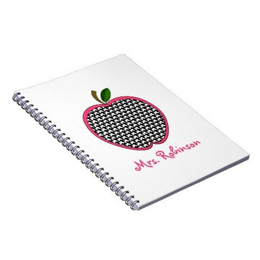 Cuaderno espiral de Houndstooth Apple para los pro