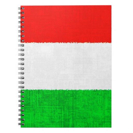 Cuaderno espiral de la BANDERA de ITALIA