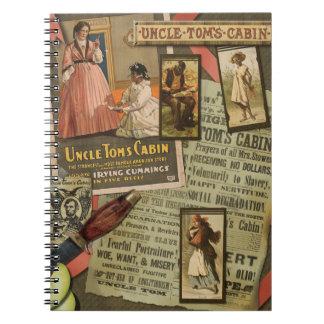 Cuaderno espiral de la cabina de tío Tom del