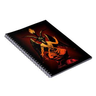 Cuaderno espiral de la cabra satánica