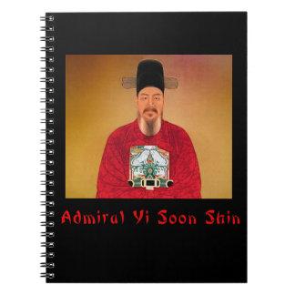 Cuaderno espiral de la espinilla de almirante Yi