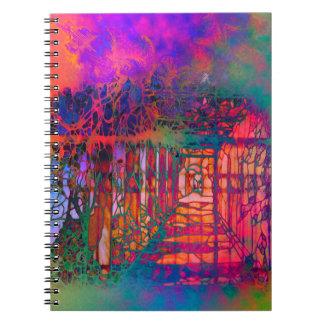 Cuaderno espiral de la fantasía ideal del jardín