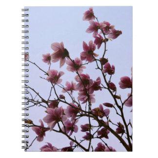 Cuaderno espiral de la floración de la cereza
