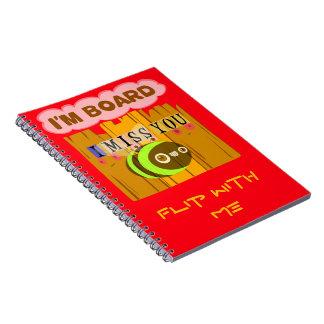 Cuaderno espiral de la foto
