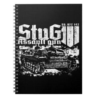 Cuaderno espiral de la foto de StuG III