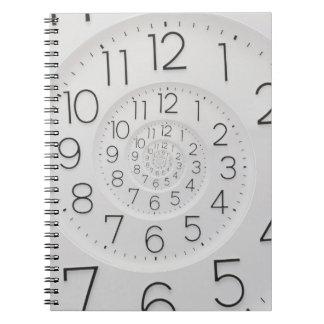Cuaderno espiral de la foto del reloj de Droste