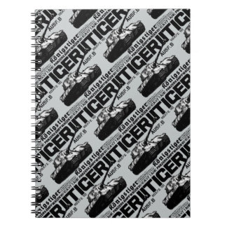 Cuaderno espiral de la foto del tigre II