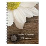 Cuaderno espiral de la margarita y del boda de mad