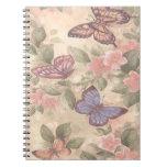 Cuaderno espiral de la mariposa