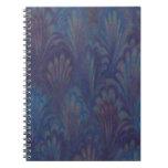 Cuaderno espiral de la pluma del pavo real