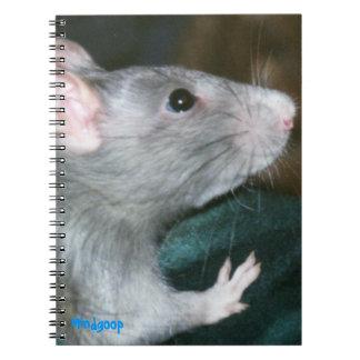 cuaderno espiral de la rata azul