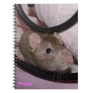cuaderno espiral de la rata del cervatillo