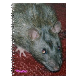 cuaderno espiral de la rata encapuchada del agouti