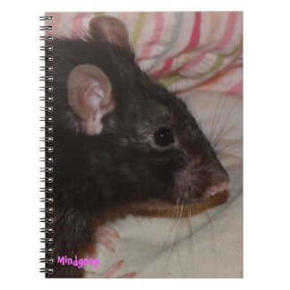 cuaderno espiral de la rata negra del rex