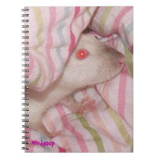 cuaderno espiral de la rata siamesa