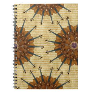 Cuaderno espiral de los girasoles del violín