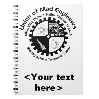 Cuaderno espiral de los ingenieros enojados
