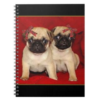 Cuaderno espiral de los perritos del barro amasado