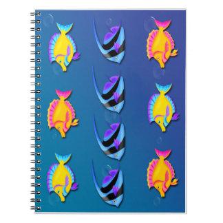 Cuaderno espiral de los pescados 2 tropicales