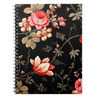 Cuaderno espiral de los rosas del rosa salvaje