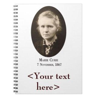 Cuaderno espiral de Marie Curie