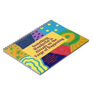 Cuaderno espiral de motivación de la abundancia