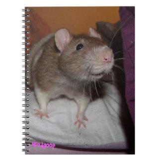 cuaderno espiral de risa de la rata
