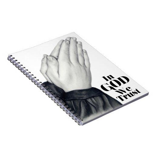 Cuaderno espiral de rogación de las manos
