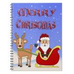Cuaderno espiral de Santa de las Felices Navidad