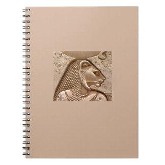 Cuaderno espiral de Sekhmet de la deidad egipcia