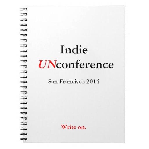 Cuaderno espiral de UnConference del indie -