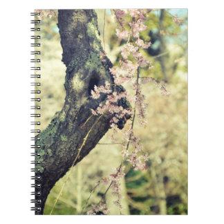 Cuaderno espiral de Whisp de la cereza