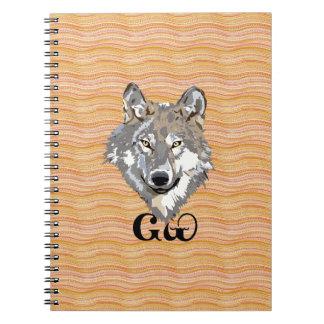 Cuaderno espiral del amante cherokee del lobo
