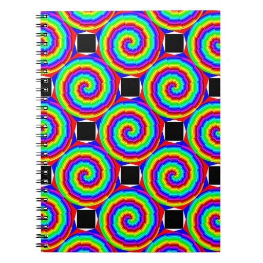 Cuaderno espiral del arco iris