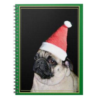 Cuaderno espiral del barro amasado del navidad