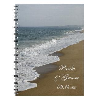 Cuaderno espiral del boda de playa
