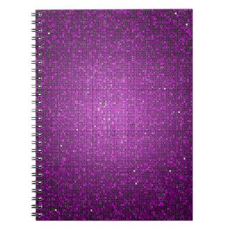Cuaderno espiral del brillo de la lentejuela del G